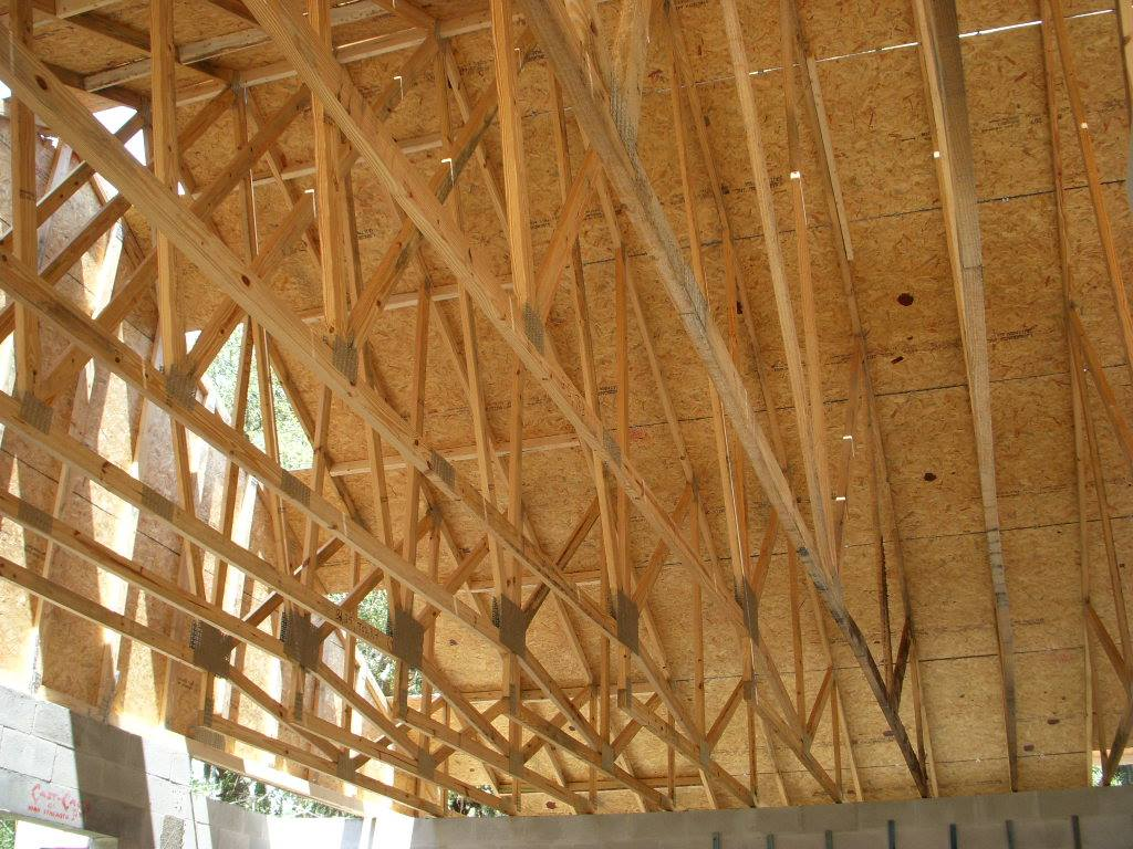 Roof Rafters shown in new home in Tampa