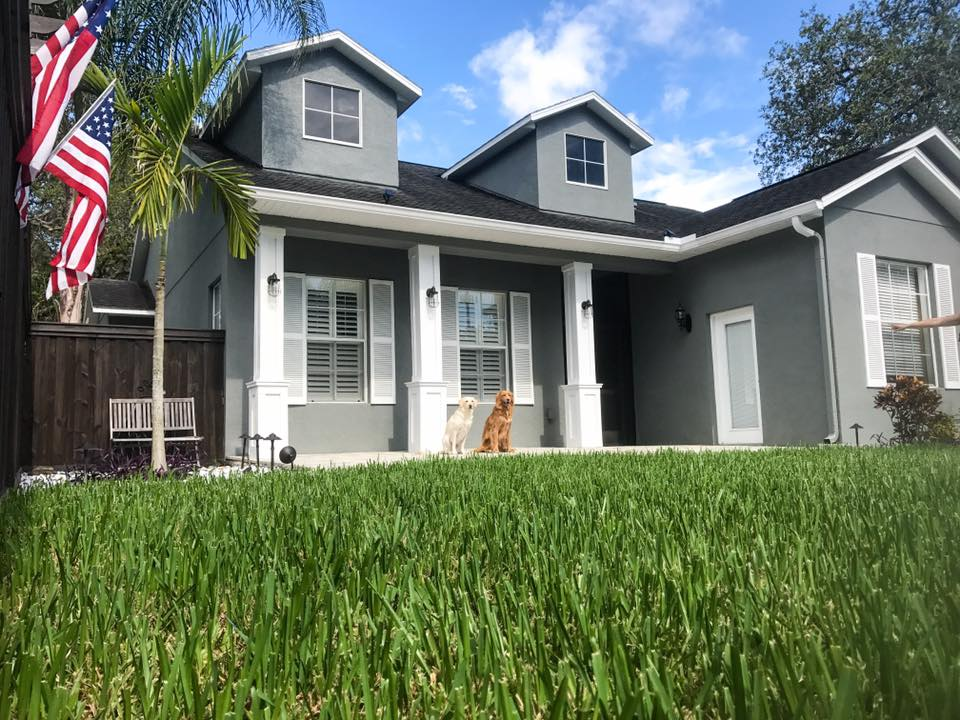 Custom Home Front Porch Tampa
