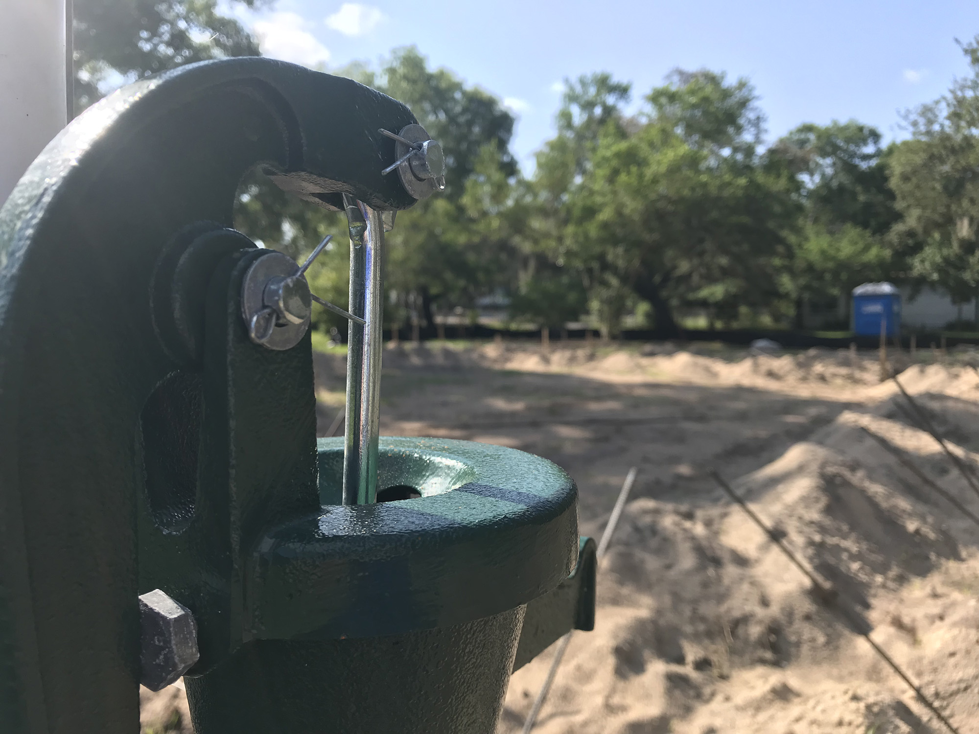 Hand Pump Well Installed