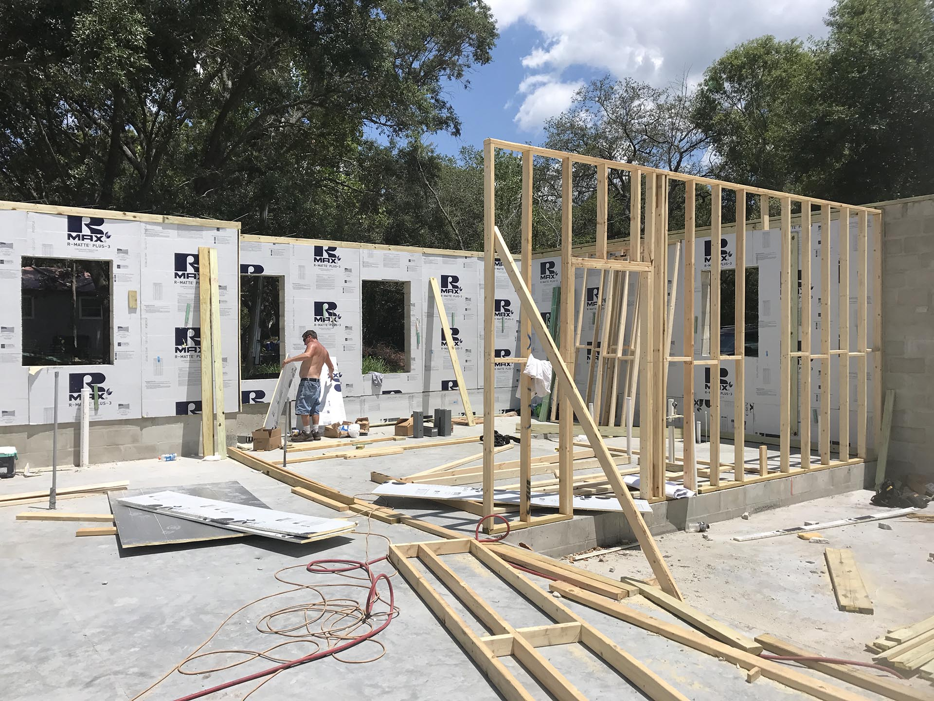 Framing Begins on New Tampa Home